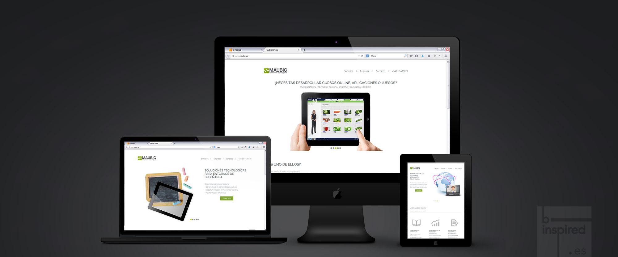Maubic, web corporativa