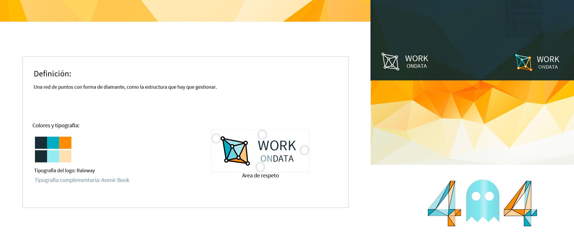 WorkOnData, imagen de marca y diseño de aplicación